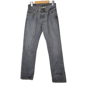 Levi's 501 Button Fly Jeans Gray 29